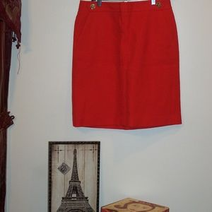 TALBOTS ORANGE SKIRT NEW NVR WORN 8P